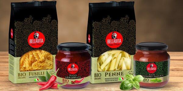 Pravé italské těstoviny a omáčky v bio kvalitě