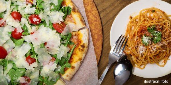 Itálie pro dva - pizza či pasta, dezert a káva