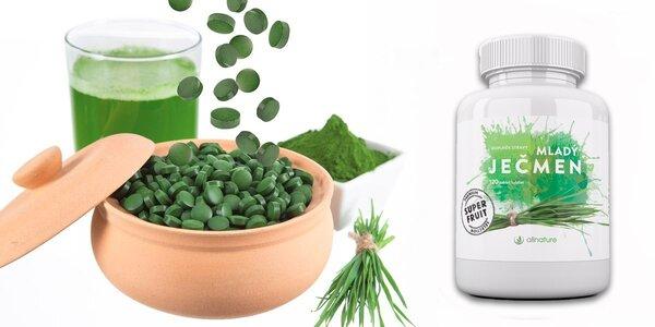 240 tablet mladého ječmene pro detoxikační kúru