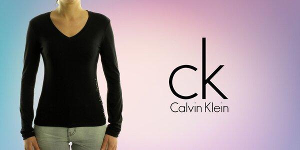 Dámská trička Calvin Klein s dlouhým rukávem