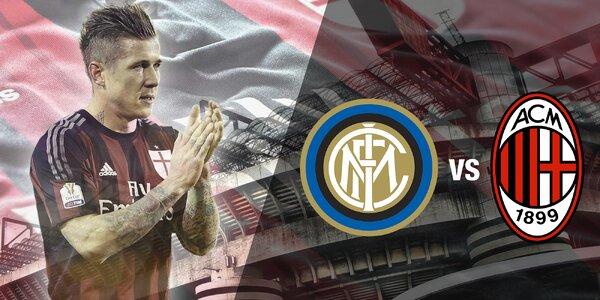 Zájezd na fotbalový zápas Inter Milán a AC Milán