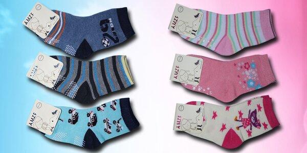 Dětské bavlněné protiskluzové ponožky