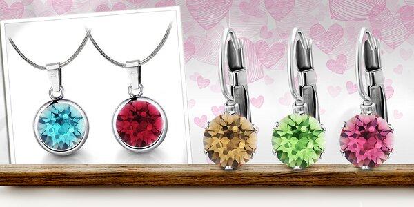 Ocelové šperky zdobené krystaly Swarovski