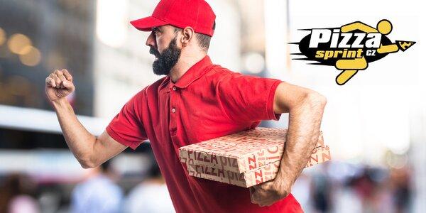 2 pizzy s expresním rozvozem po Hradci Králové