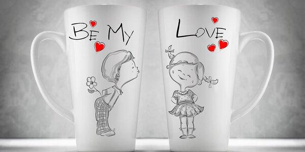 Výběr setu valentýnský hrnků pro zamilované páry