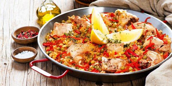 Španělská pánev plná dobrot: paella pro 6 osob