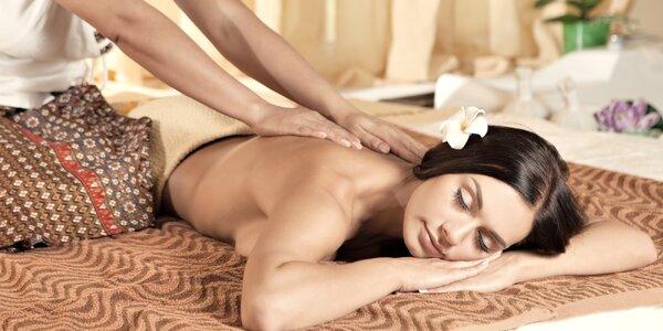 70 minut blaha při masáži v salonu Thai Sun