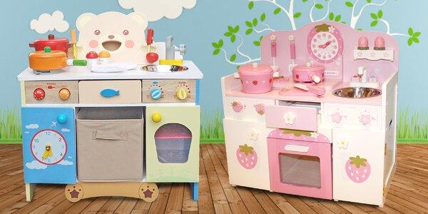Dětské dřevěné kuchyňky s příslušenstvím