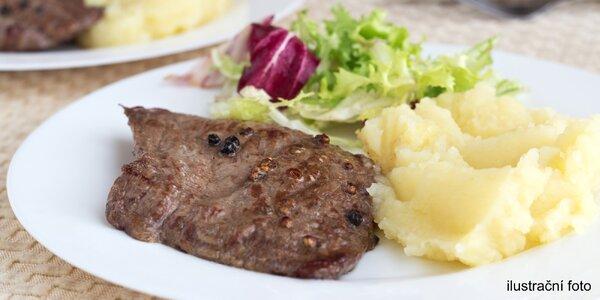 Vyladěné 3chodové menu s hovězím steakem