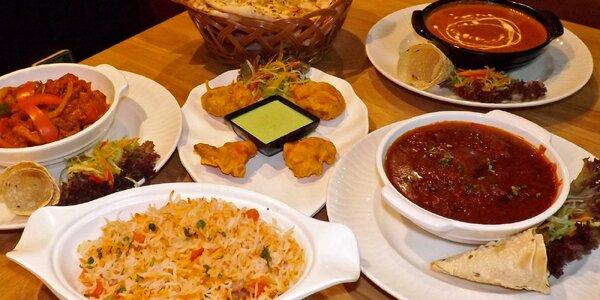 Indické menu pro 2: Dva druhy masa s přílohami