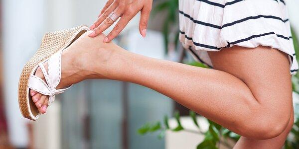 Pedikérské ošetření s masáží nohou