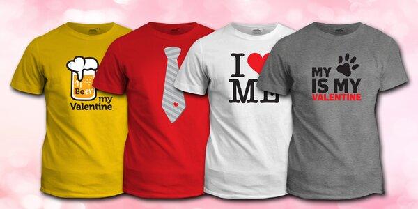 Hravá trička s povedeným valentýnským potiskem