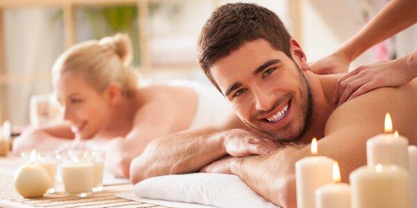 70 minut relaxace pro páry: masáže a zábal