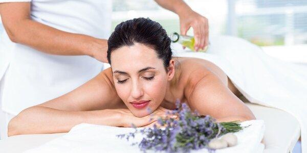 60minutová spa levandulová masáž vč. peelingu