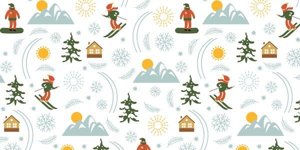 Zimní radovánky v Alpách
