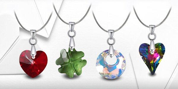 Ocelové náhrdelníky s krystaly Swarovski