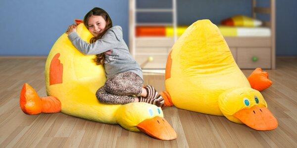 Dětský sedací pytel ve tvaru kačera