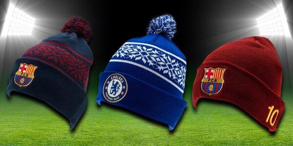 Zimní fotbalové čepice, šály a rukavice