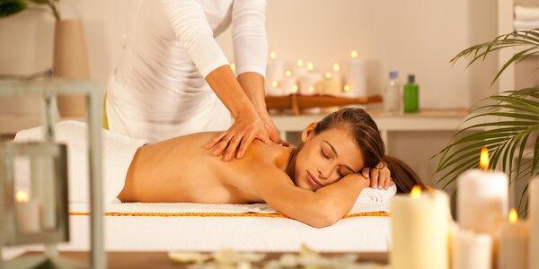 60minutová voňavá masáž šípkovým olejem