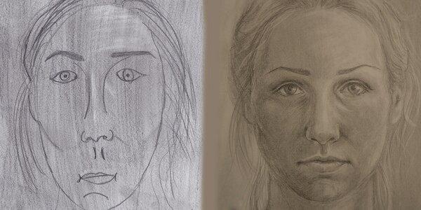 Obrázek osobního úspěchu - kresba a autoportrét