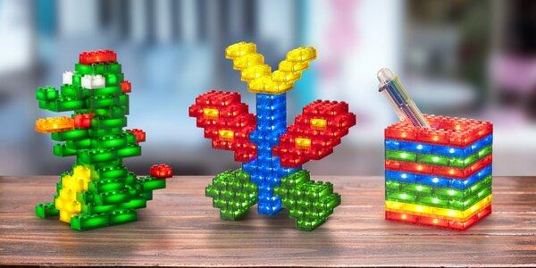 Svítící dětská stavebnice Light Stax Creator