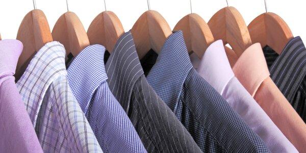 Profesionální žehlení košil včetně dopravy