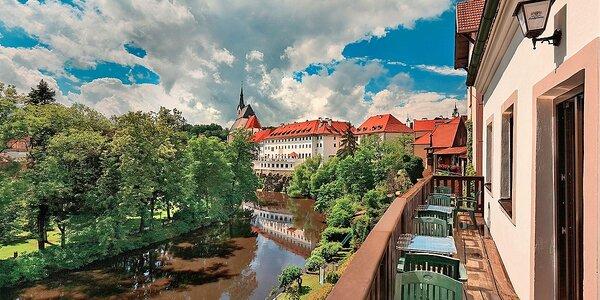 Romantika v Českém Krumlově přímo u Vltavy