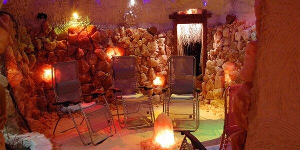Privátní odpočinek v solné jeskyni se sektem