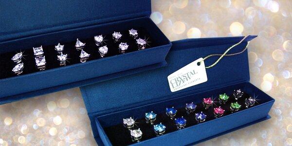 Sety náušnic se třpytivými krystaly