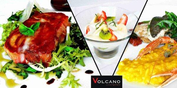 799 Kč za 5chodové menu ve středomořském stylu pro 2 v restaurantu Volcano!