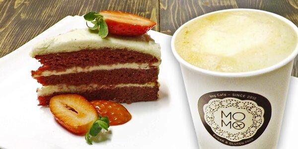 Báječný bezlepkový dortík a horký nápoj s sebou