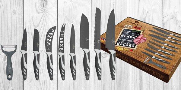 Sada 9 nožů včetně keramické škrabky