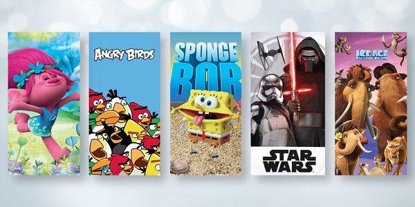 Dětské bavlněné osušky s oblíbenými filmovými motivy