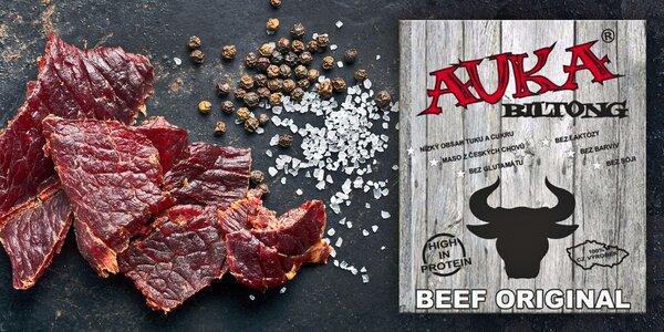Sušené hovězí maso Auka Biltong, 75 g