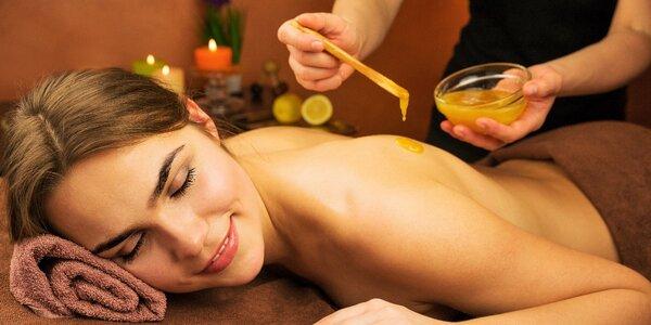 Relaxační medová masáž celého těla se zábalem