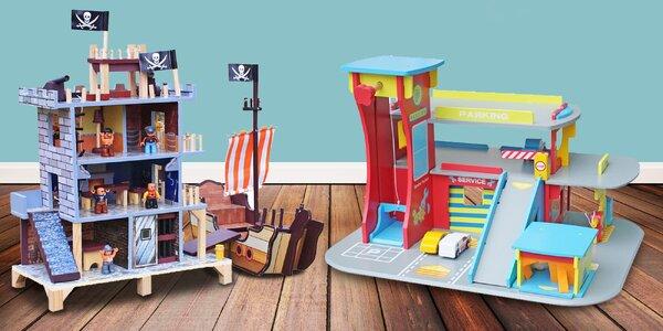 Velké dřevěné hrací sety pro kluky