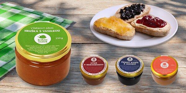 4× 250 g výběrových džemů v lahodných variacích