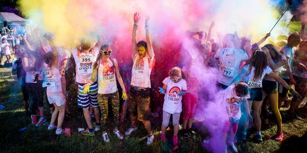 Barevný běh Run in Colors a lupen na koncert