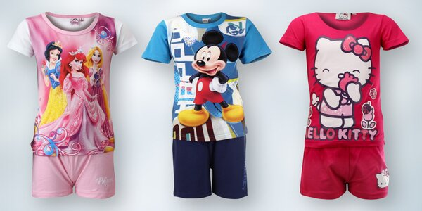 Pyžámka s motivy z Disneyho - 100% bavlna