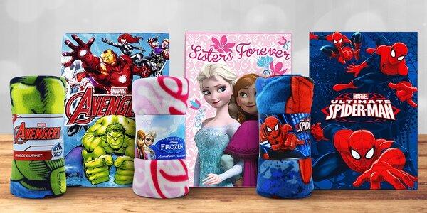 Dětské fleecové deky s filmovými motivy
