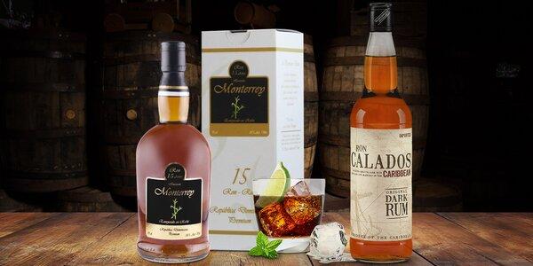 Výběr lahodných třtinových rumů z Dominikány a Guyany