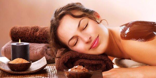 Luxusní čokoládová masáž se zábalem