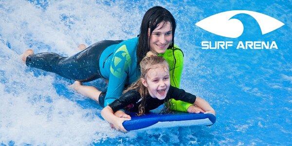 Surfování pro celou rodinu v Surf Areně