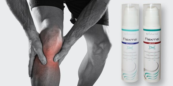 Hřejivý nebo chladivý gel Flexmal na svaly