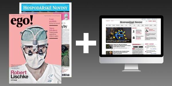 Nabité předplatné pátečních Hospodářských novin