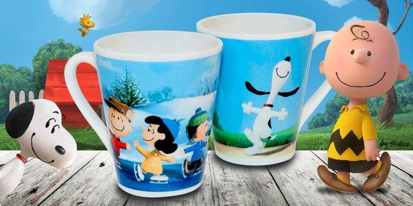 Sada dvou hrníčků pro děti s pejskem Snoopy