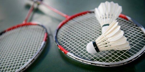 Hodina badmintonu až pro 4 hráče