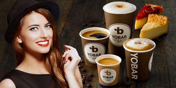 Káva a dortík: sladká svačina z Yobaru