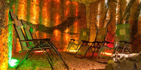 Zdravá relaxace v privátní solné jeskyni v Hotelu Merkur
