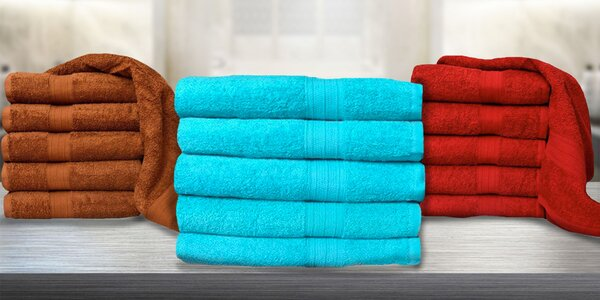 Luxusně hebké osušky a ručníky ze 100% bavlny